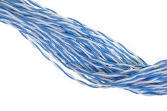 Twisted blue wires Royalty Free Stock Photos