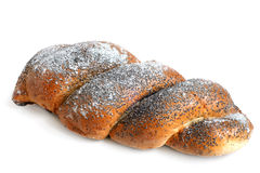 Twisted bread with poppyseed Royalty Free Stock Photography