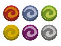 Twisted Buttons Royalty Free Stock Photos
