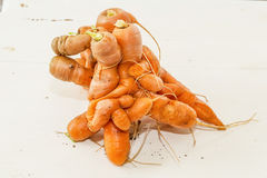 Twisted Carrots Royalty Free Stock Photo