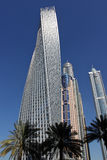 Twisted Cayan Tower in Dubai Marina Stock Photo