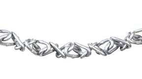 Twisted chain. Royalty Free Stock Images