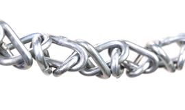 Twisted chain. Isolated on a white background. Royalty Free Stock Photo