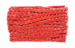 Twisted Cherry Licorice Sticks Top View Royalty Free Stock Photo