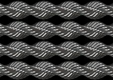 Twisted chrome metal. Model of twisted chrome metal Royalty Free Stock Images