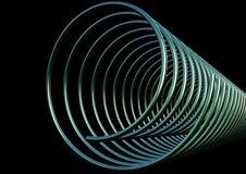 Twisted chrome metal Stock Photos