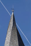 Twisted church spire Stock Images