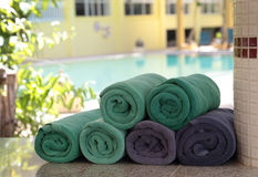 Twisted clean towels Royalty Free Stock Images