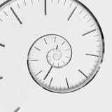 Twisted clock face. Time concept. Twisted clock face close up. infinite time concept Royalty Free Stock Photography