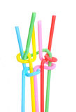 Twisted Colored Straws Stock Images