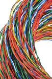 Twisted colored wires Stock Photos