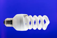 Twisted compact fluorescent lamp Stock Images