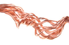 Twisted copper wire Royalty Free Stock Photography