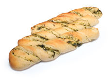 Twisted crisp bread with herbs Royalty Free Stock Photography