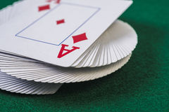 Twisted deck of cards Royalty Free Stock Images