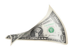 Twisted dollar bill Royalty Free Stock Images