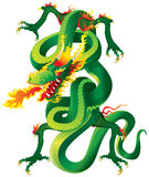 Twisted Dragon. Artwork inspired with traditional Chinese and Japanese dragon arts Stock Images