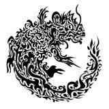 Twisted dragon tattoo Stock Photos