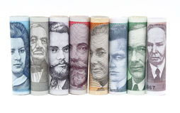 Twisted estonian money Stock Photos