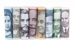 Twisted estonian money Stock Photos