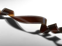 Twisted film for photo or video. Recording Royalty Free Stock Image