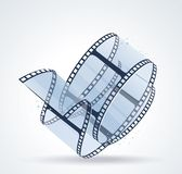 Twisted film for photo or video recording on white. Vector illustration Royalty Free Stock Images