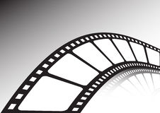 Twisted film strip. Vector illustration Stock Photo