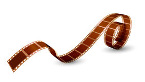 Twisted film strip on white background. Vector illustration Royalty Free Stock Photos