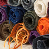 Twisted folded woolen scarves Royalty Free Stock Image