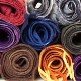 Twisted folded woolen scarves Stock Image