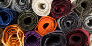 Twisted folded woolen scarves Stock Images