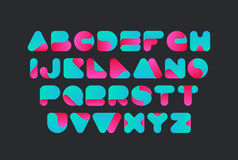 Twisted Font Vector design. Typeface alphabet. royalty free illustration