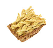 Twisted Garlic and Cheese Snacks Stock Photography