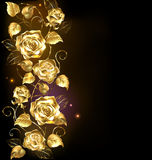 Twisted gold rose Stock Image