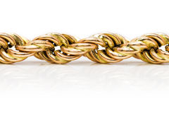 Twisted golden chain Royalty Free Stock Photos