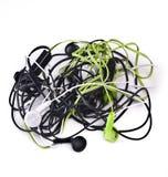 Twisted headphones Stock Photo