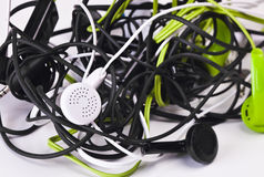 Twisted headphones Stock Image