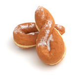 Twisted iced donuts Stock Photos