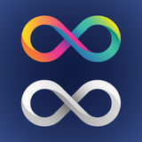 Twisted infinity sign Stock Images