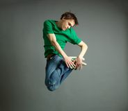 Twisted jump Royalty Free Stock Images
