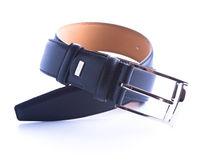 Twisted leather belt Royalty Free Stock Photography