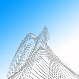 Twisted lines Royalty Free Stock Image
