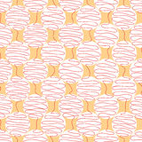 Twisted lines in the shape of a ball. On an orange background Royalty Free Stock Photography