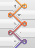 Twisted into a loop pattern timeline infographic Royalty Free Stock Photography