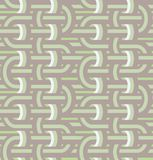 Twisted loops in seamless pattern. Stock Image