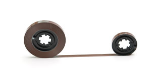Twisted magnetic tape Stock Image