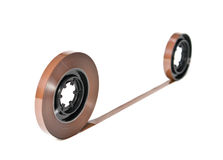 Twisted magnetic tape Royalty Free Stock Image