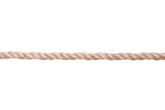 Twisted Manila Rope Isolated On White Stock Images