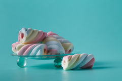 Twisted marshmallow Stock Images