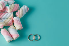 Twisted marshmallow Royalty Free Stock Photo